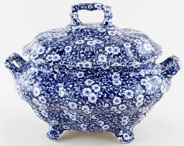 Burleigh/burgess & Leigh Burleigh Blue Calico Tureen Pottery & Glass