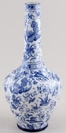 Burgess and Leigh Chinese Peacock Vase c1920