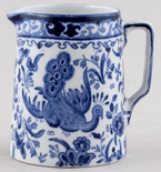 Burgess and Leigh Chinese Peacock Jug or Creamer c1920s