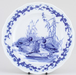 Plate The Tortoise and Ducks c1880