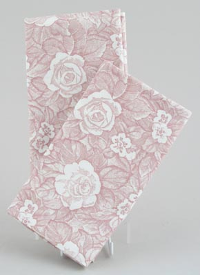 Burleigh Victorian Chintz pink Tea Towels Pack of Two