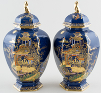 Covered Vases pair of c1895