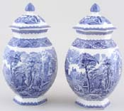 Vases Pair with Covers c1915