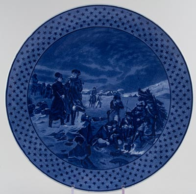 Cauldon Revolutionary Series Wall Plaque New York Washington and Lafayette at Valley Forge c1910