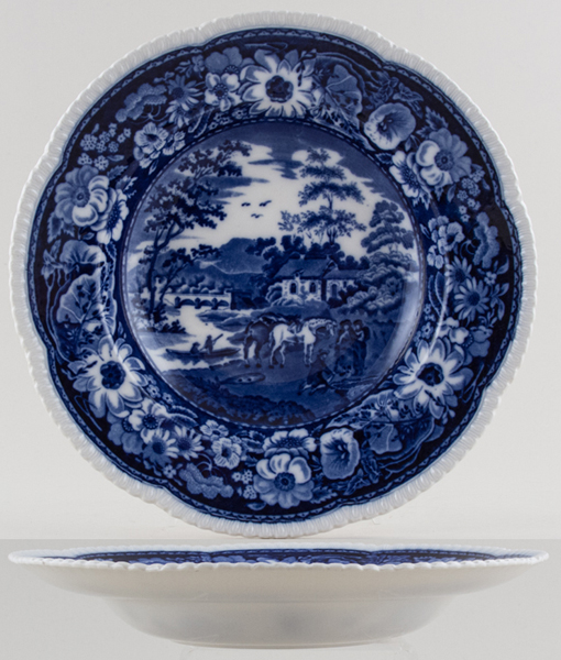 Cauldon Native Soup Plate c1931