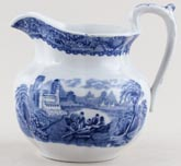 Cauldon Blue Moore Jug or Pitcher c1930s