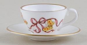 Caverswall Easter Series colour Miniature Cup and Saucer c1979