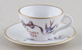 Caverswall Easter Series colour Miniature Cup and Saucer c1978
