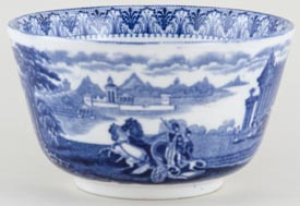 Cauldon Chariot Sugar Bowl c1920