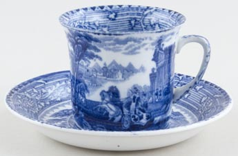 Wardle Arcadian Chariots Cup and Saucer c1910