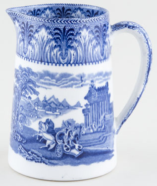 Cauldon Chariot Jug or Pitcher Tankard c1930s