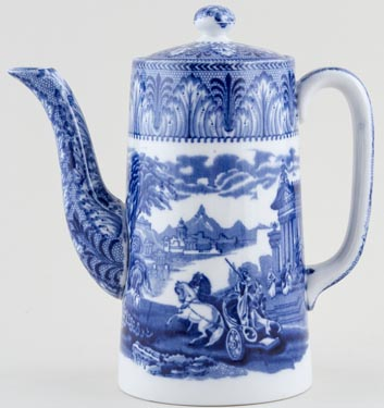 Cauldon Chariot Coffee Pot c1930