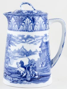 Cauldon Chariot Hot Water Jug c1930s