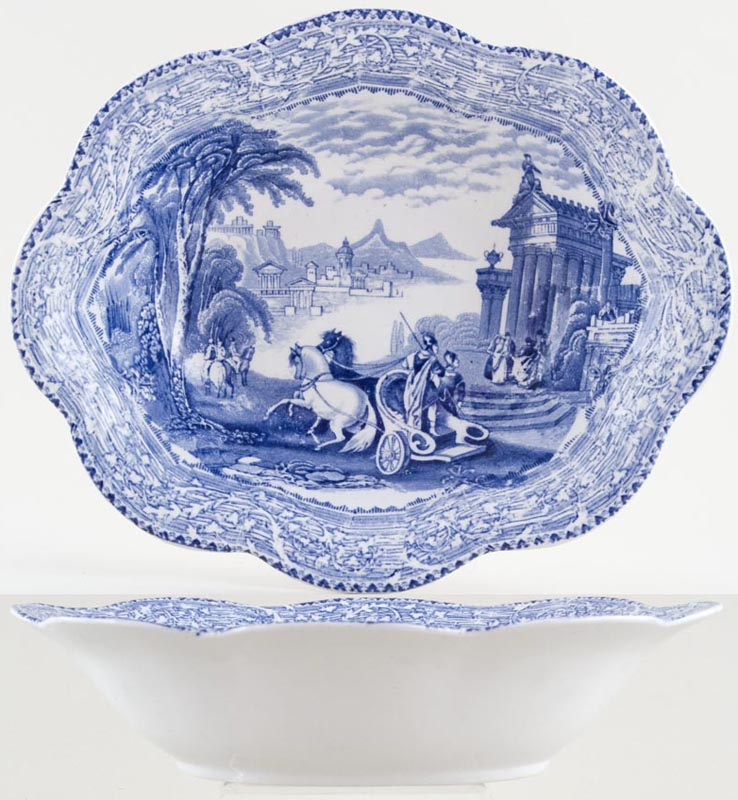 Unattributed Maker Arcadian Chariots Bowl c1900