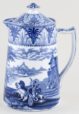Cauldon Chariot Hot Water Jug or Pitcher c1930s