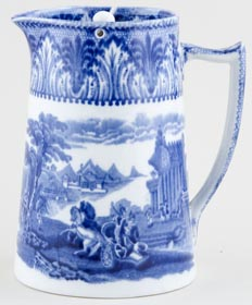 Cauldon Chariot Jug or Pitcher Lidded Hot Water c1930