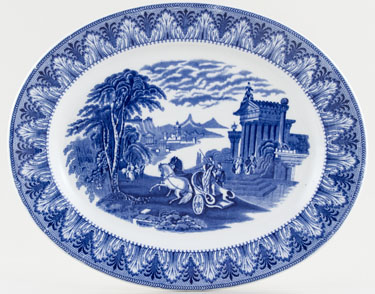 Cauldon Chariot Meat Dish or Platter c1930