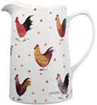 Queens Alex Clark Rooster colour Jug or Pitcher Tankard  Extra large