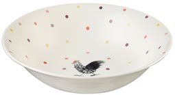 Queens Alex Clark Rooster colour Fruit or Salad Bowl