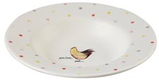 Queens Alex Clark Rooster colour Soup Plate