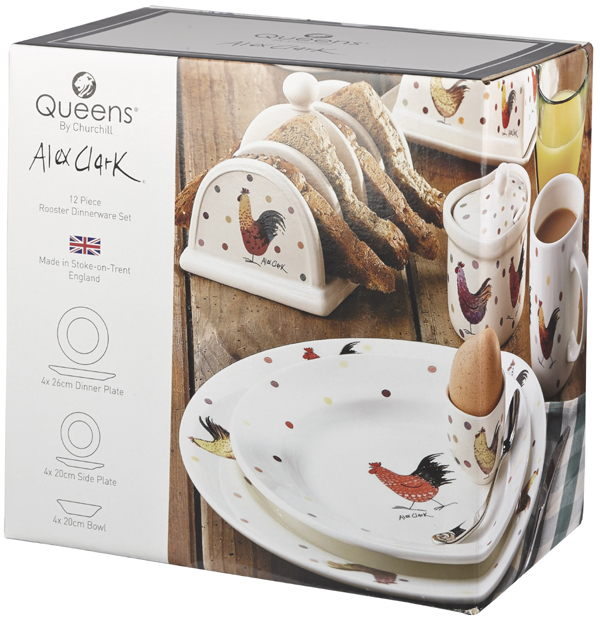 Queens Alex Clark Rooster colour Set 12 Pieces