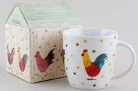 Queens Alex Clark Rooster colour Mug