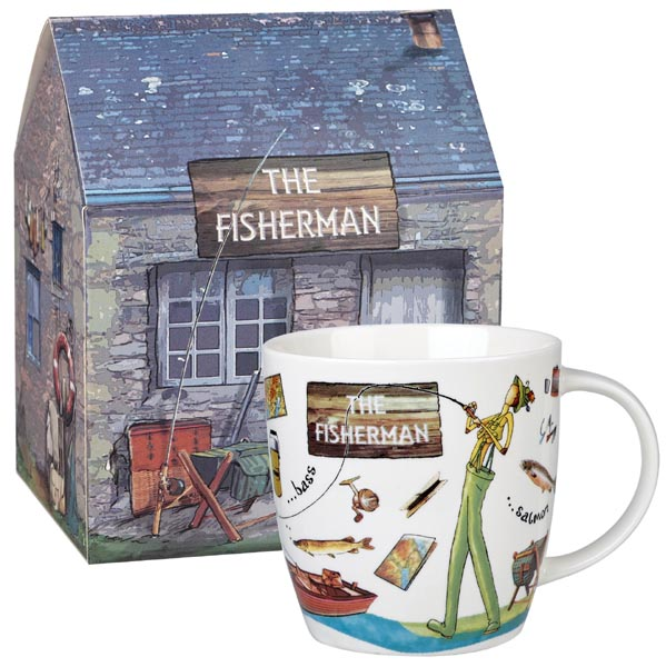 Queens At Your Leisure Mug The Fisherman gift boxed