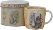 Mug in a Tin Scroll Peter Rabbit