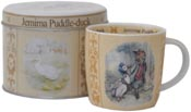 Mug in a Tin Scroll Jemima Puddle Duck