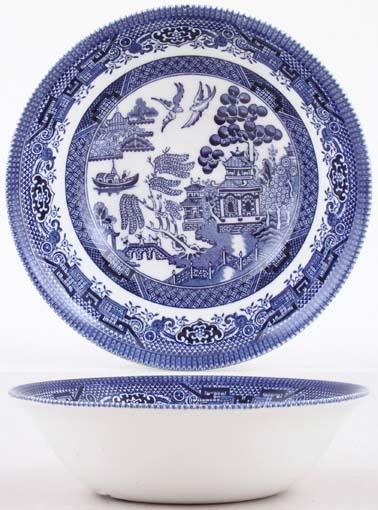 Churchill Blue Willow Cereal or Dessert Bowl
