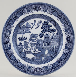 Churchill Blue Willow Salad or Dessert Plate