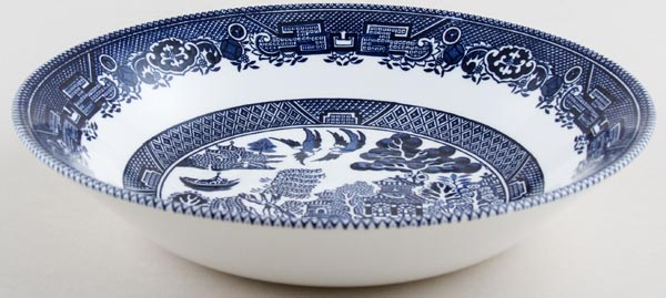 Churchill Blue Willow Dessert or Soup Bowl large