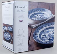 Churchill Blue Willow Set 12 Pieces
