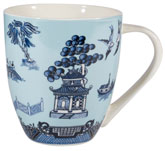 Churchill Blue Willow Mug Blue Crush