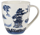 Churchill Blue Willow Mug White Crush