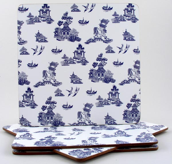 Churchill Blue Willow Placemats set of 4