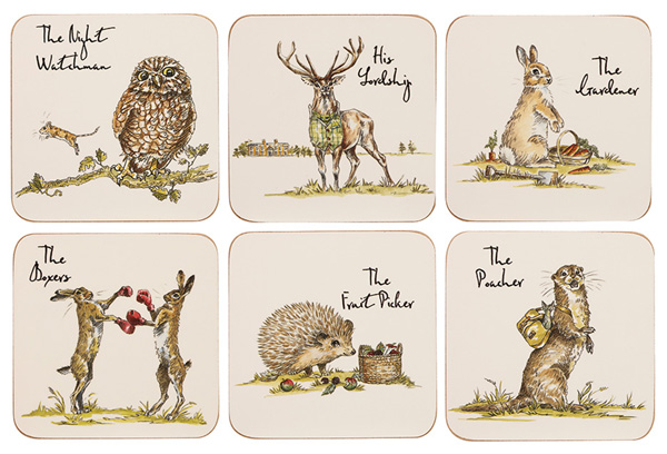 Queens Country Pursuits Coasters Set of Six