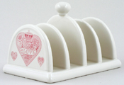 Queens Made with Love pink Toast Rack