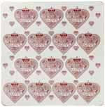 Queens Made with Love pink Placemats set of 4
