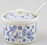 Queens Penzance Jam or Preserve Pot with Spoon