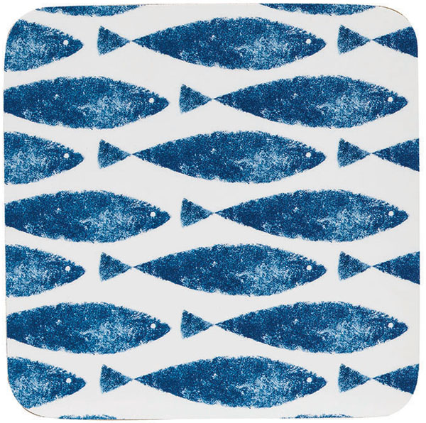 Queens Sieni Fishie on a Dishie Coasters set of Six