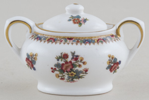 Coalport Ming Rose colour Miniature Sucrier c1960-1980