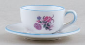 Coalport Mayflower colour Miniature Cup & Saucer c1980sq
