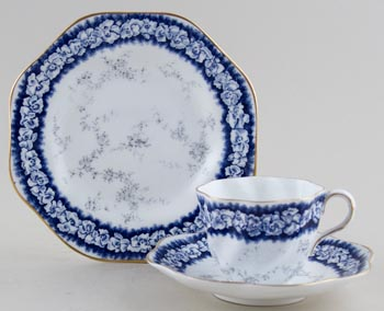 Coalport Unidentified Pattern Teacup, Saucer and Plate c1900