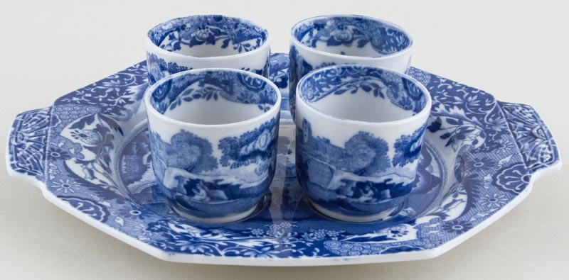 Spode Italian Egg Cups and Tray c1932