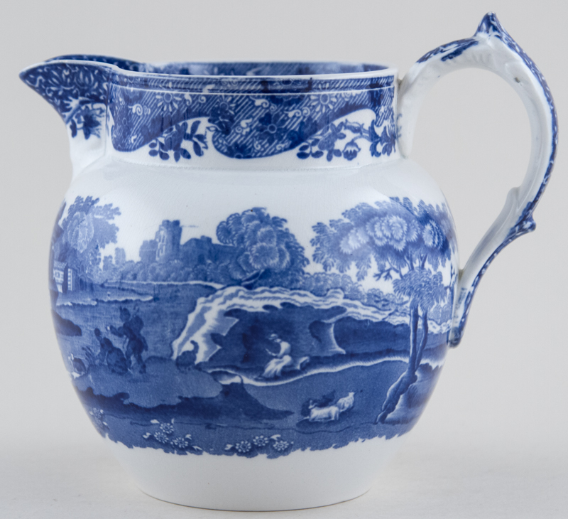 Spode Italian Jug or Pitcher stretched Dutch c1895