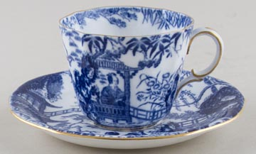 Royal Crown Derby Mikado Teacup and Saucer c1930s