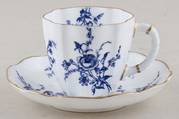Royal Crown Derby Unidentified Pattern Coffee Cup and Saucer c1890s