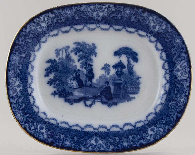 Royal Doulton Watteau Meat Dish or Platter small c1918