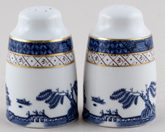 Royal Doulton Real Old Willow Salt and Pepper Pots or Shakers c1990